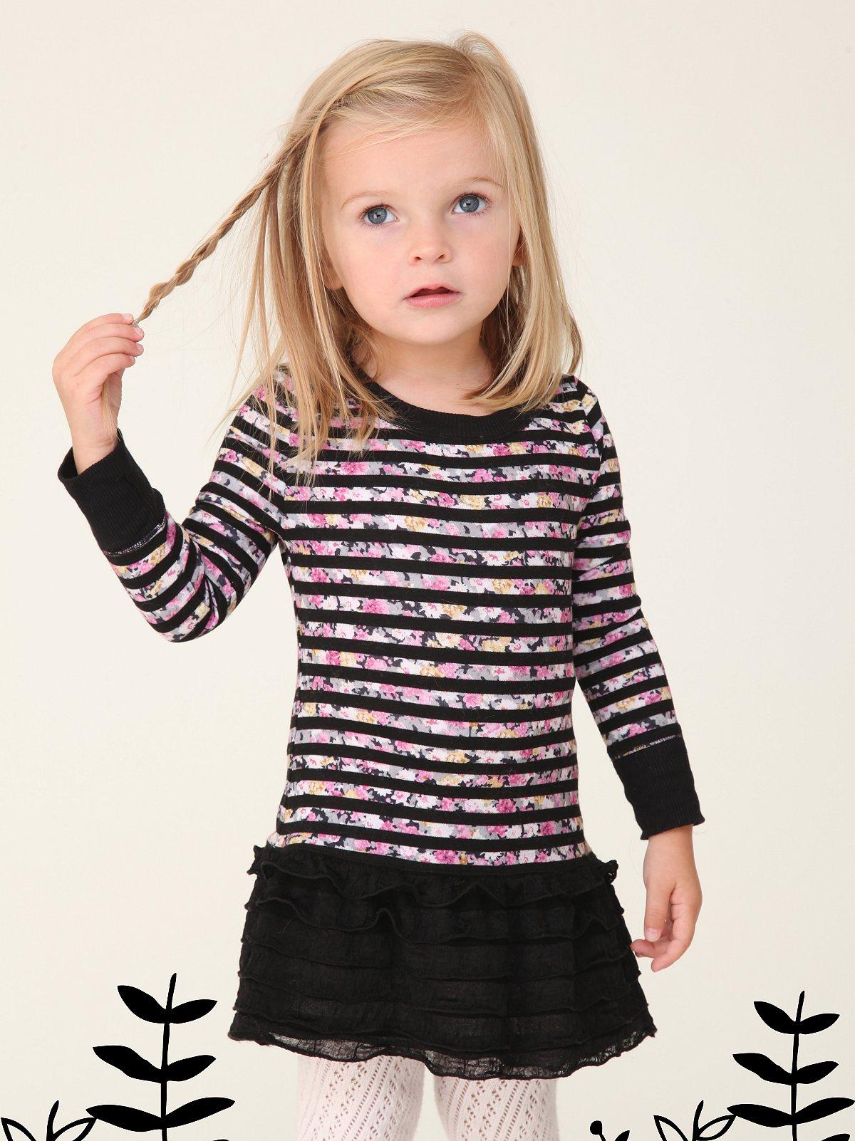 Wee People Starbright Stripe Ruffle Dress