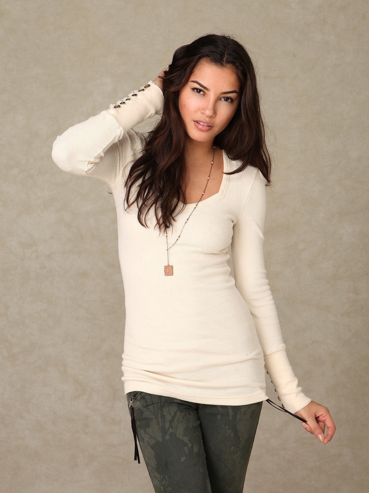 We the Free Sweetheart Neck Thermal Tunic