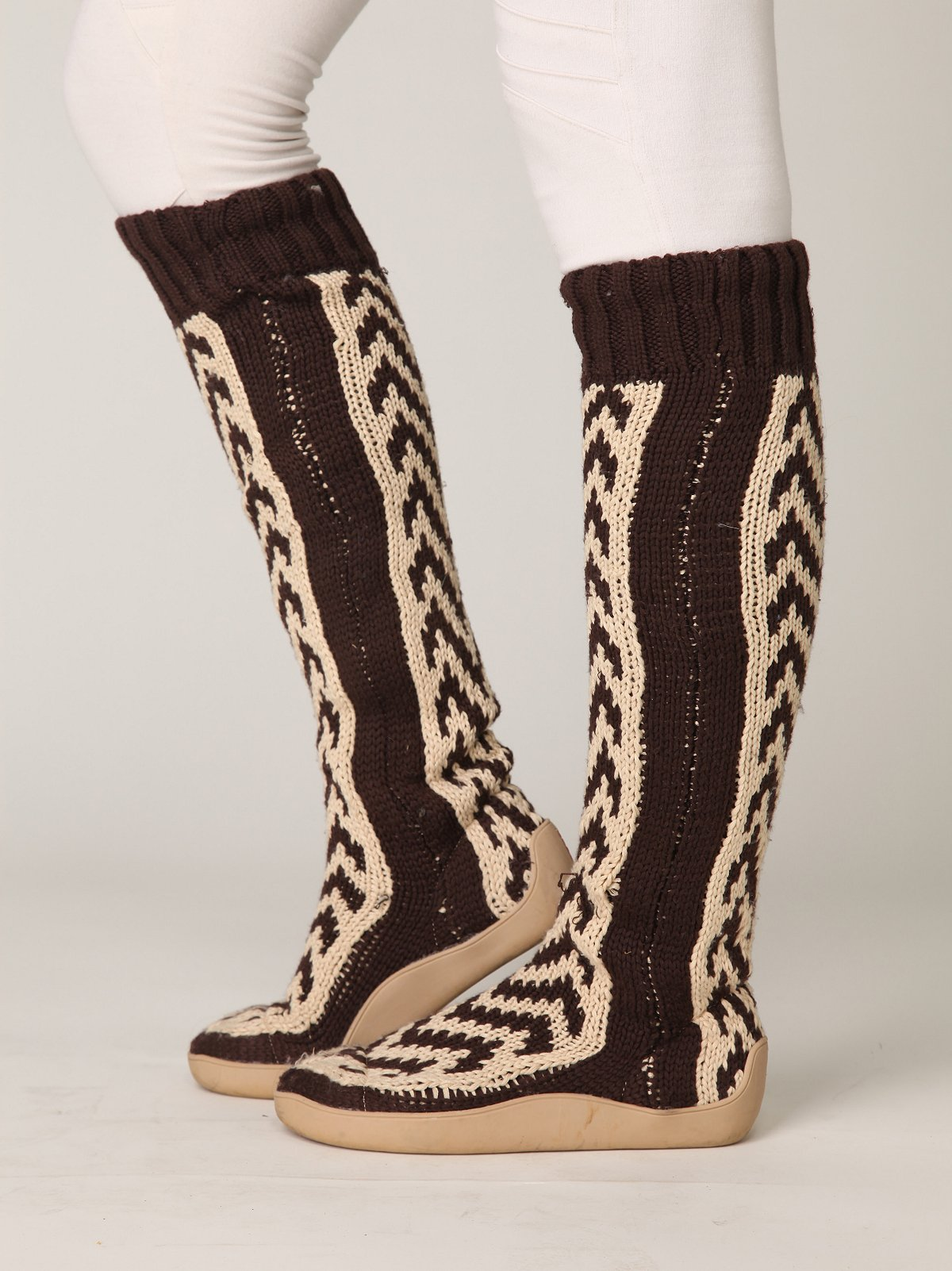 Chevron Tall Sock Boot