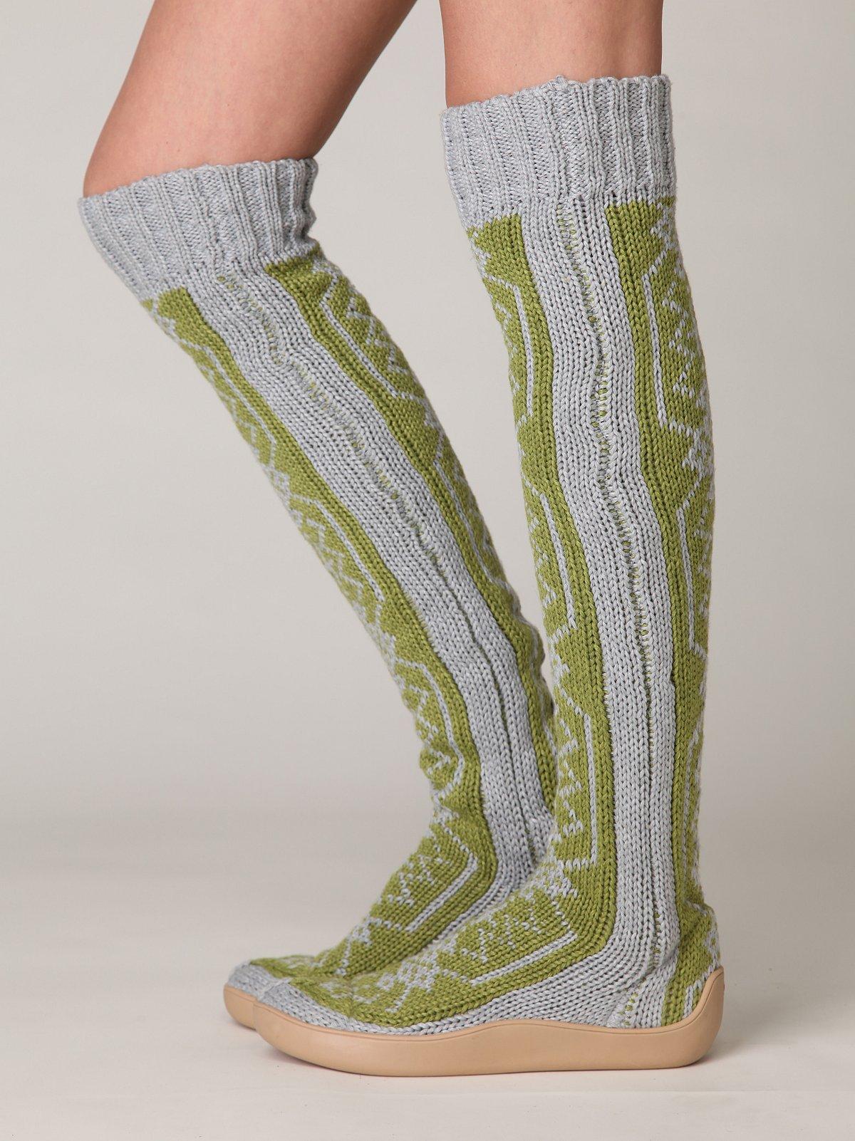 Gretta Over the Knee Slipper Sock