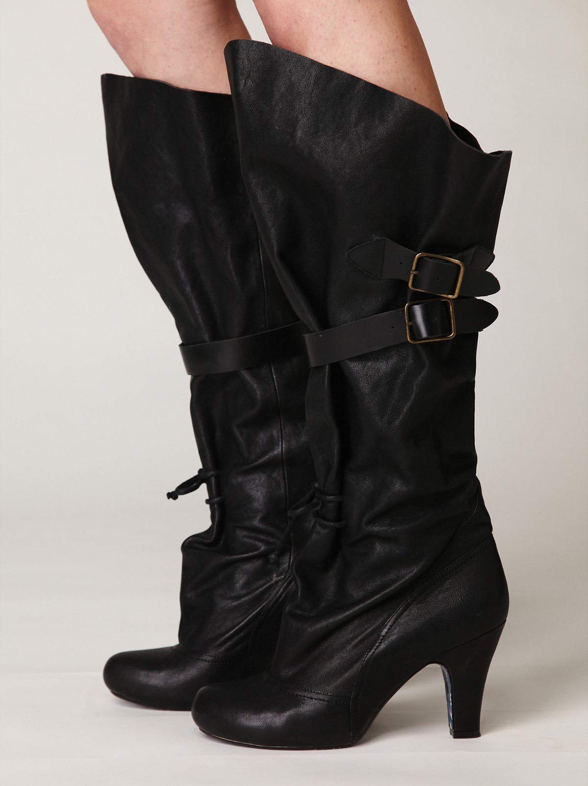 Buckle Slouch Heeled Boot