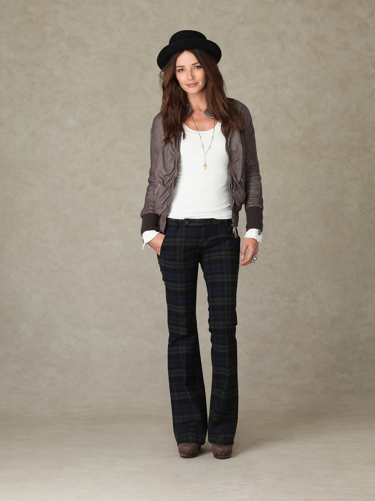 Raven Mackenzie Plaid Trouser