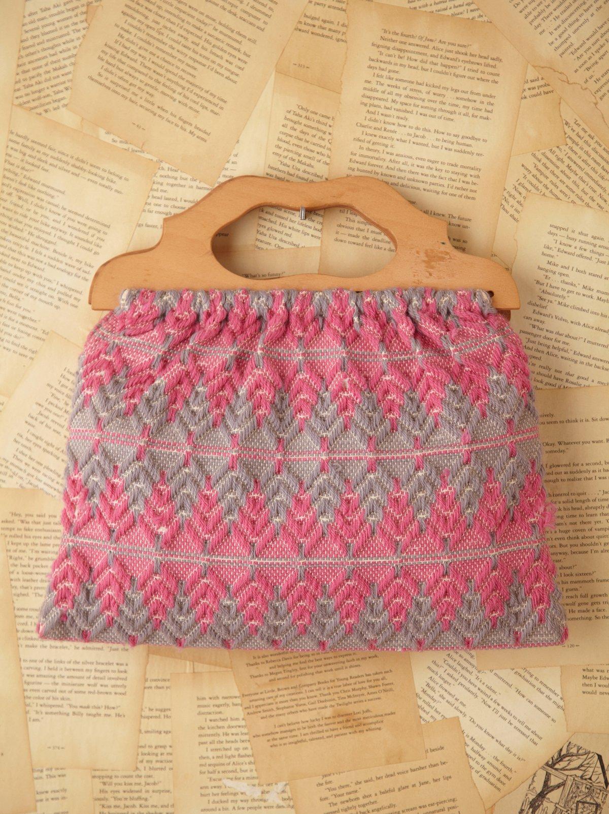 Vintage Pink and Grey Sewing Bag