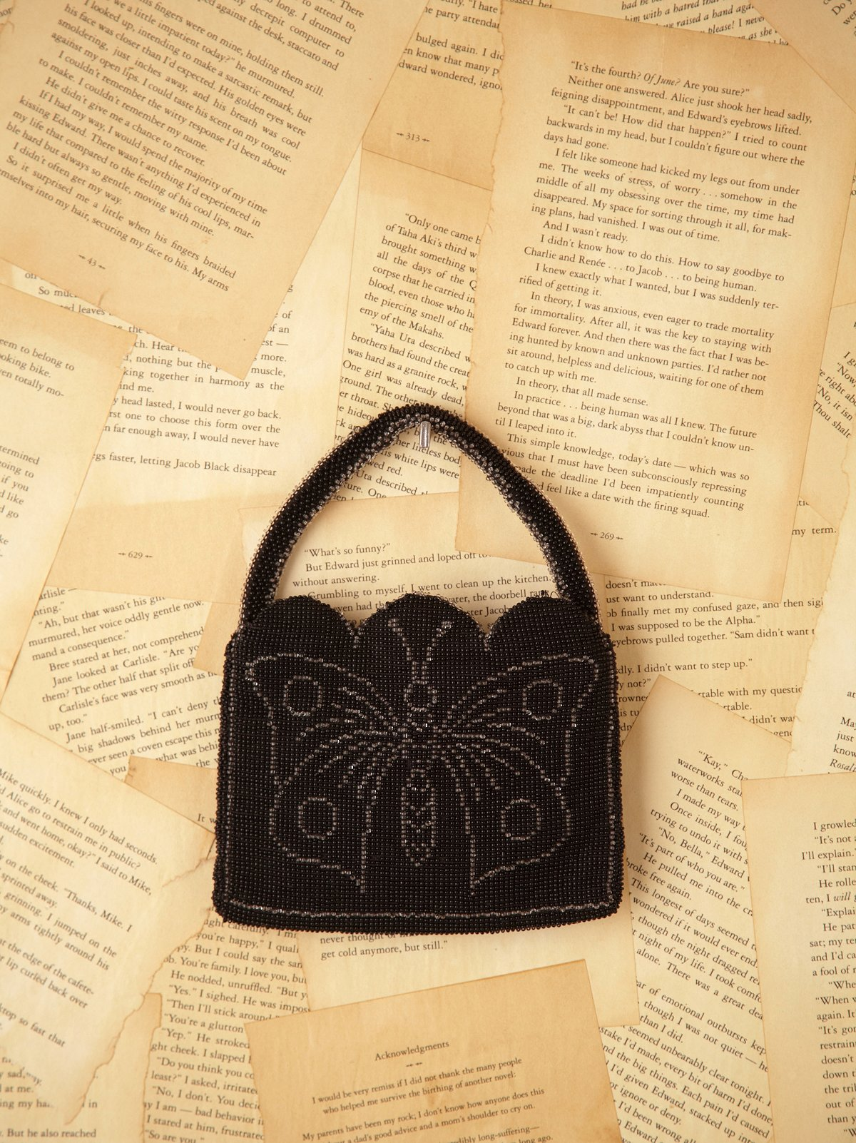 Vintage Beaded Butterfly Evening Bag