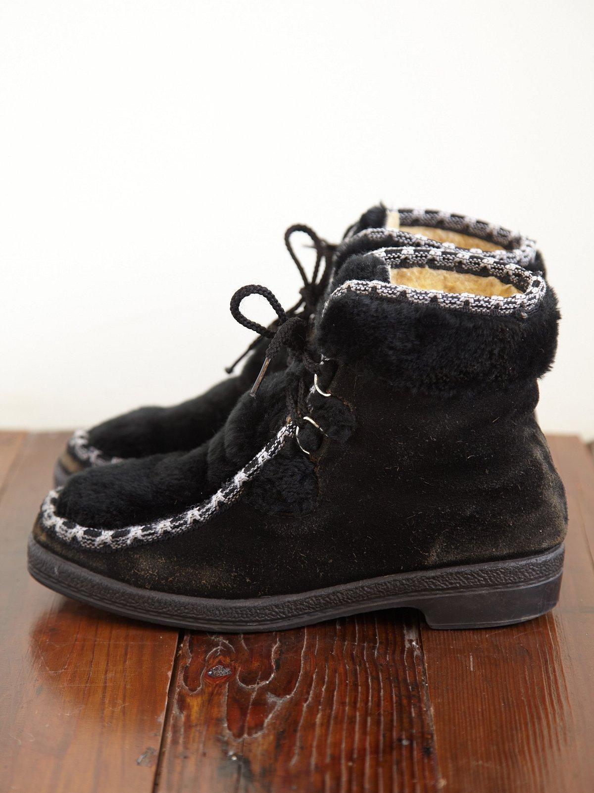 Vintage 1970s Faux Fur Boots