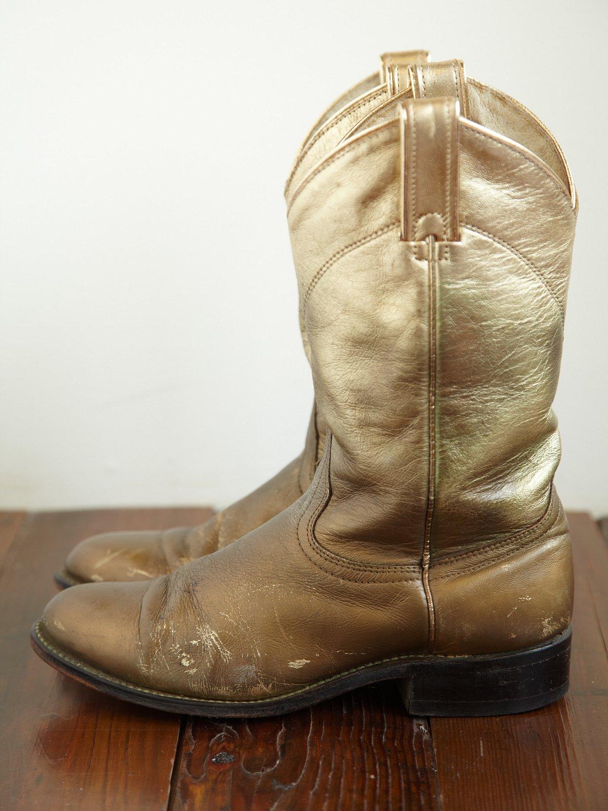 Vintage Round Toe Western Boot