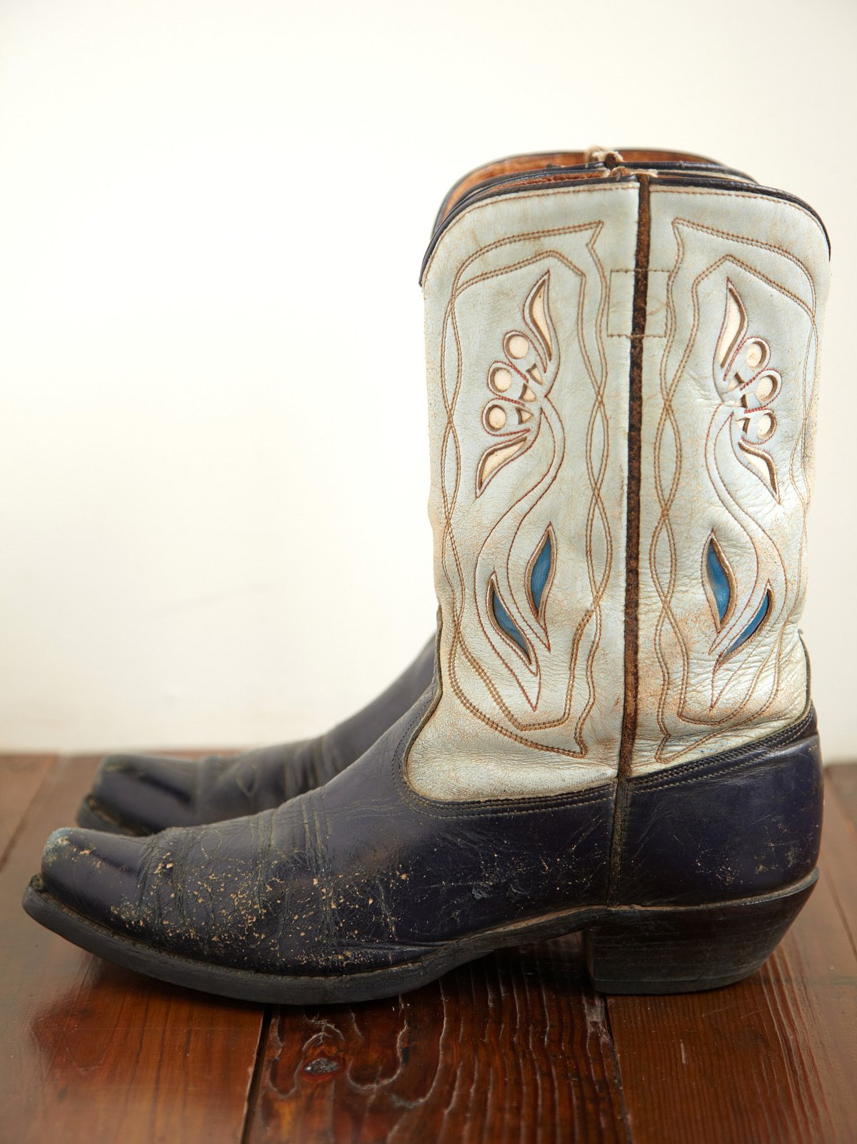 Vintage Two Tone Western Boot