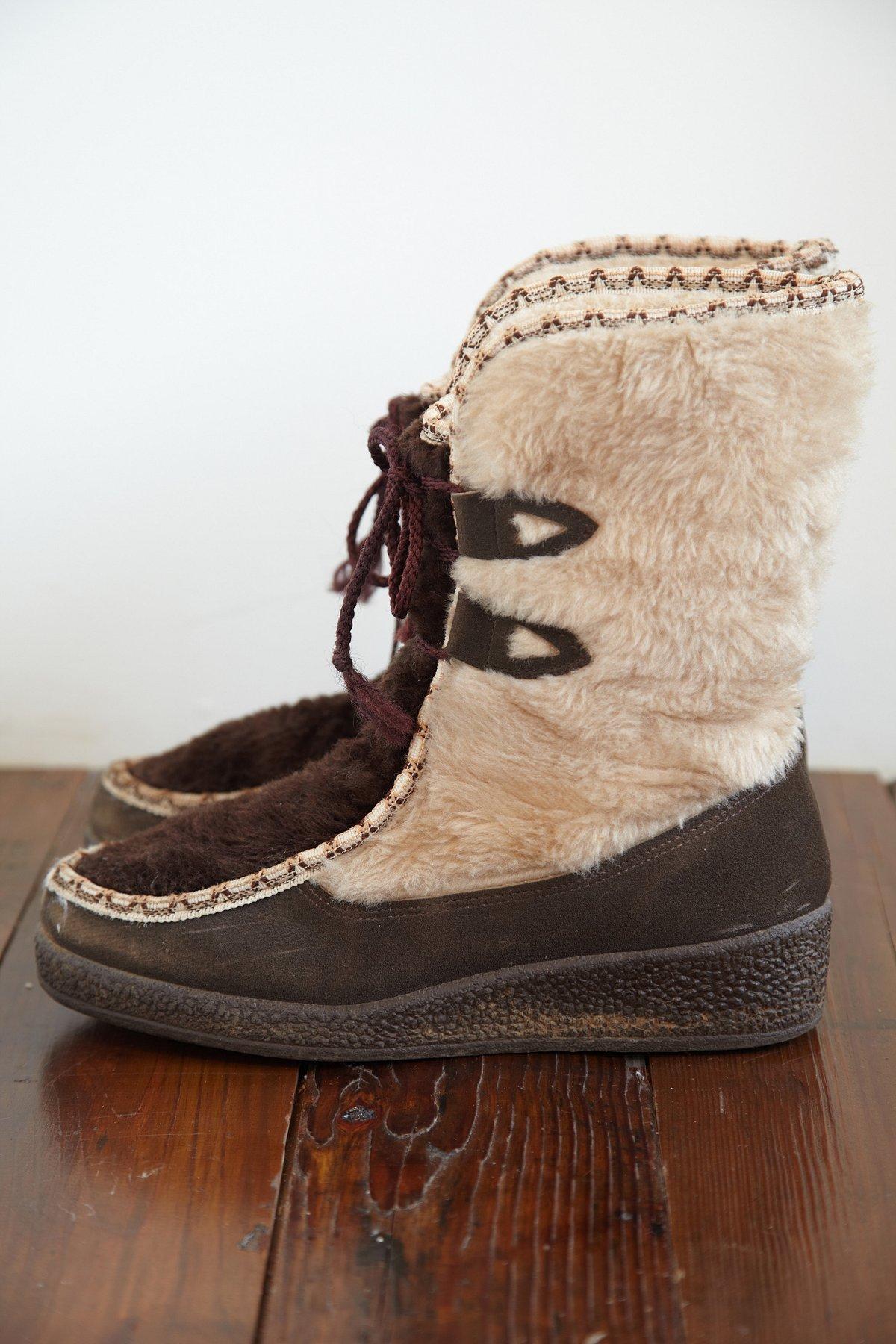 Vintage Faux Fur Winter Boot