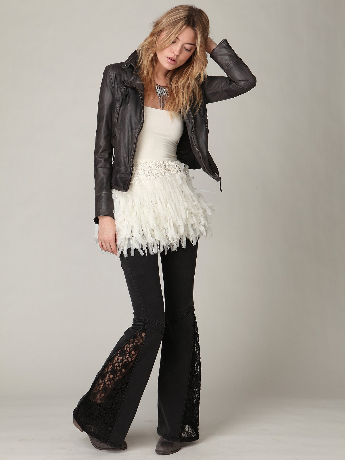 FP Lace Inset Flare
