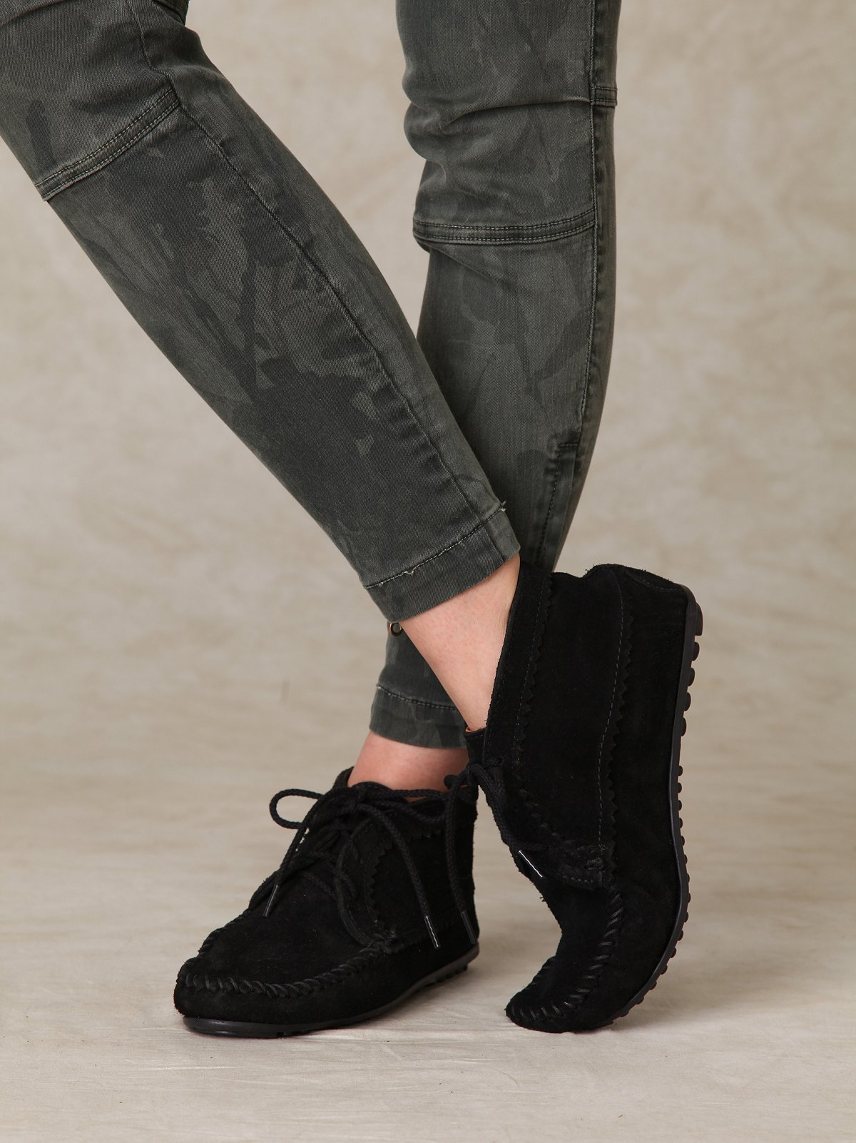 Suede Ankle Moccasin