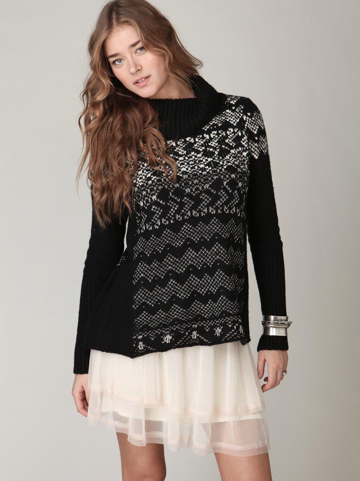 Colorblock Mesh Skirt