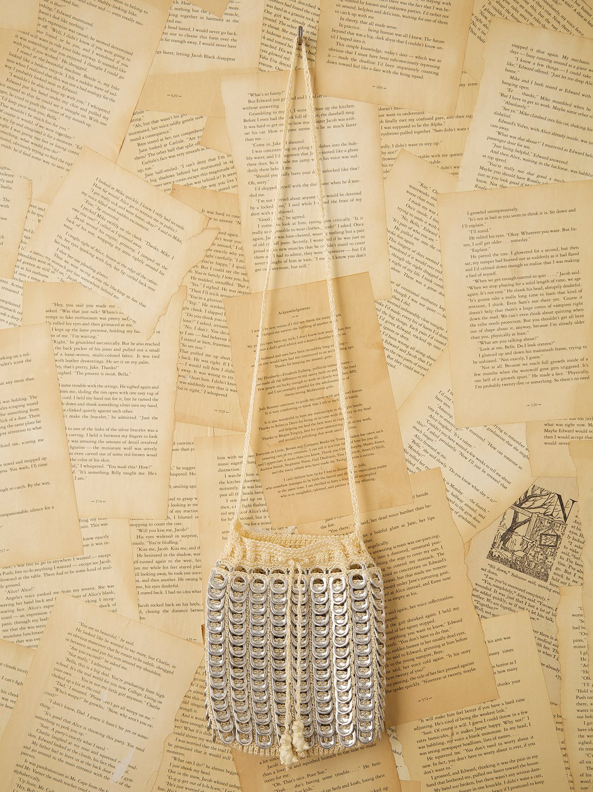 Vintage Soda Pop Crochet Bag