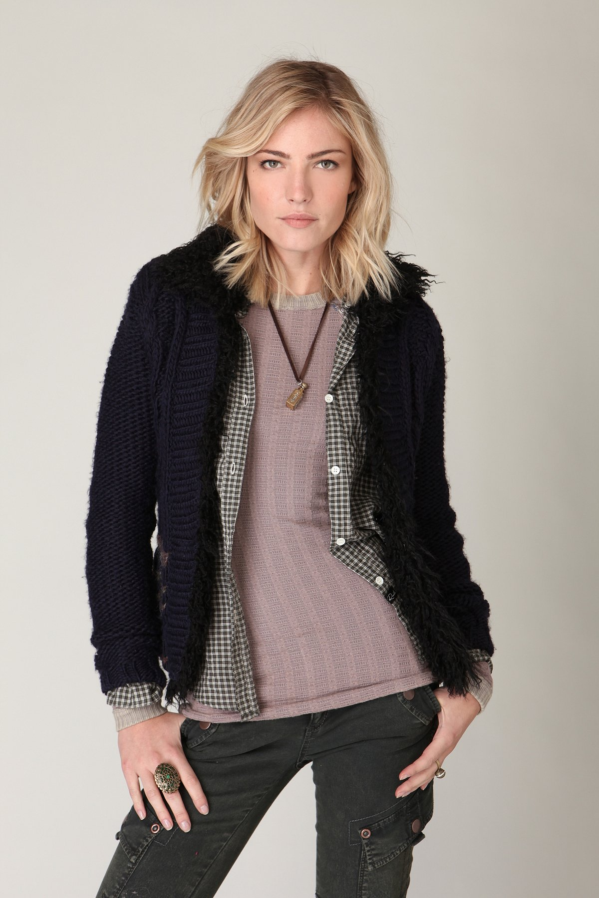 Accent On Sherpa Jacket