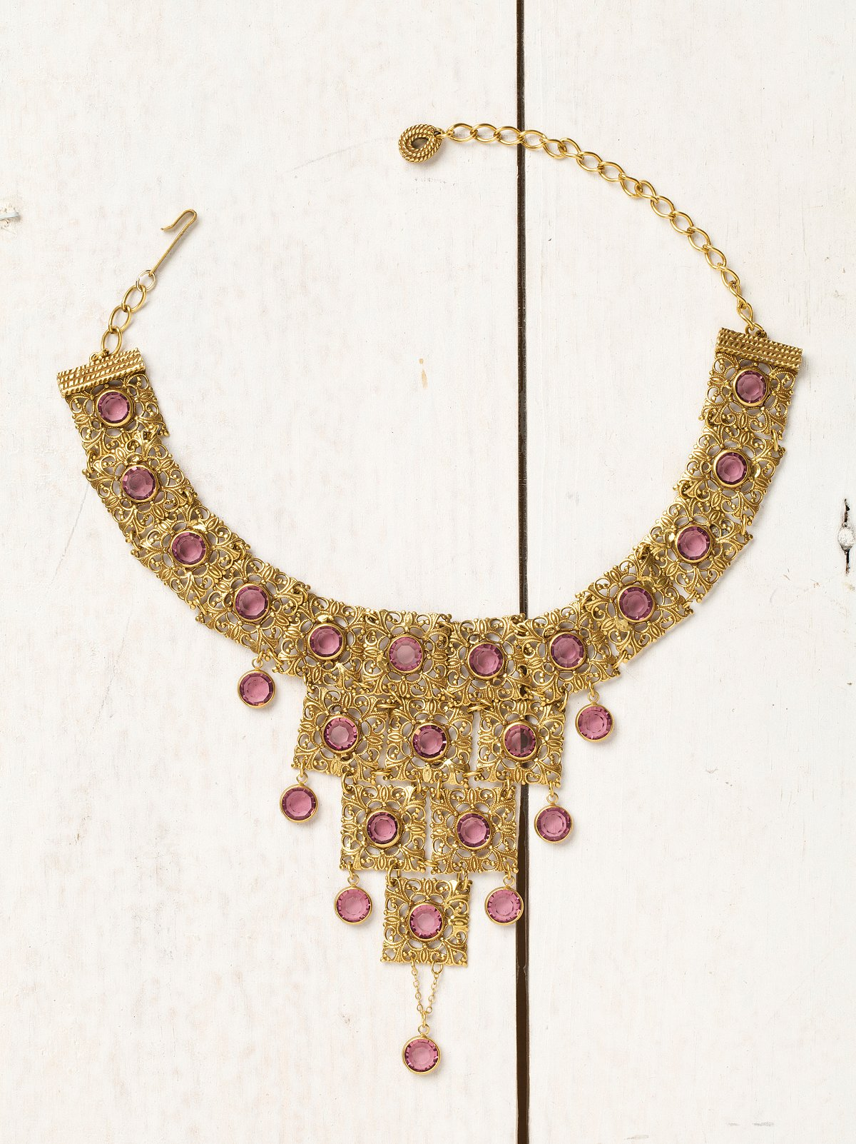 Vintage 1960s Goldette Bib Necklace