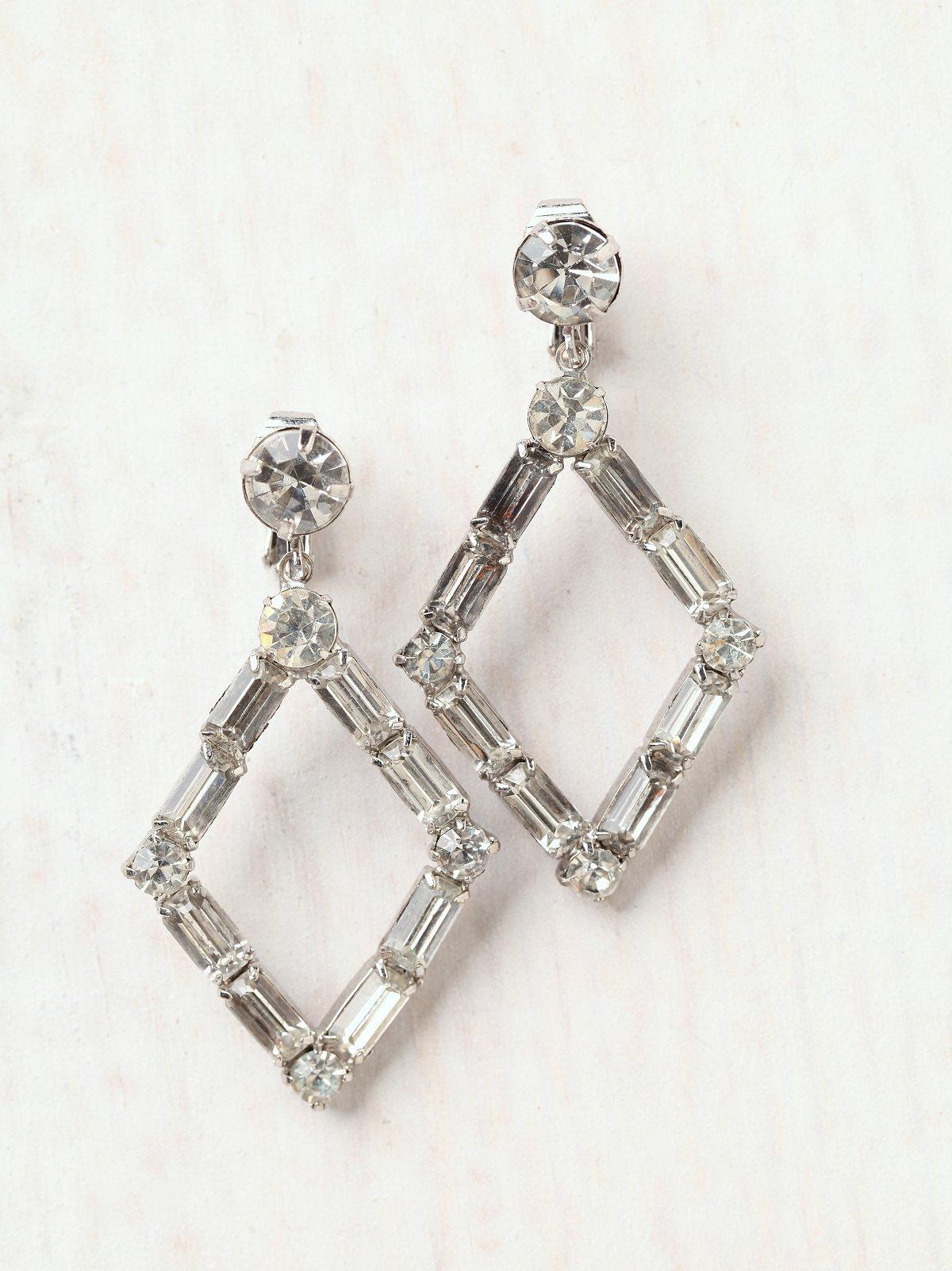 Vintage Hollow Diamond Earrings