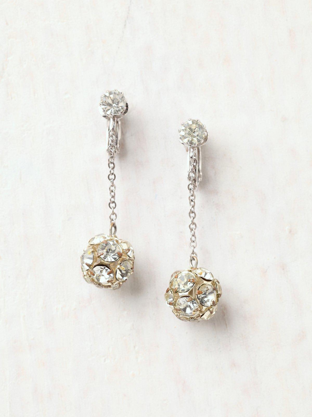 Vintage Canary Globe Earrings