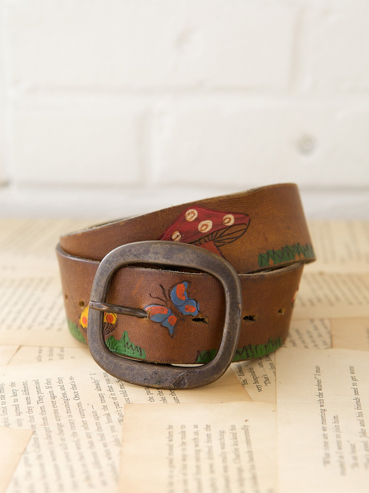 Vintage 1970s Mad Hatter Belt