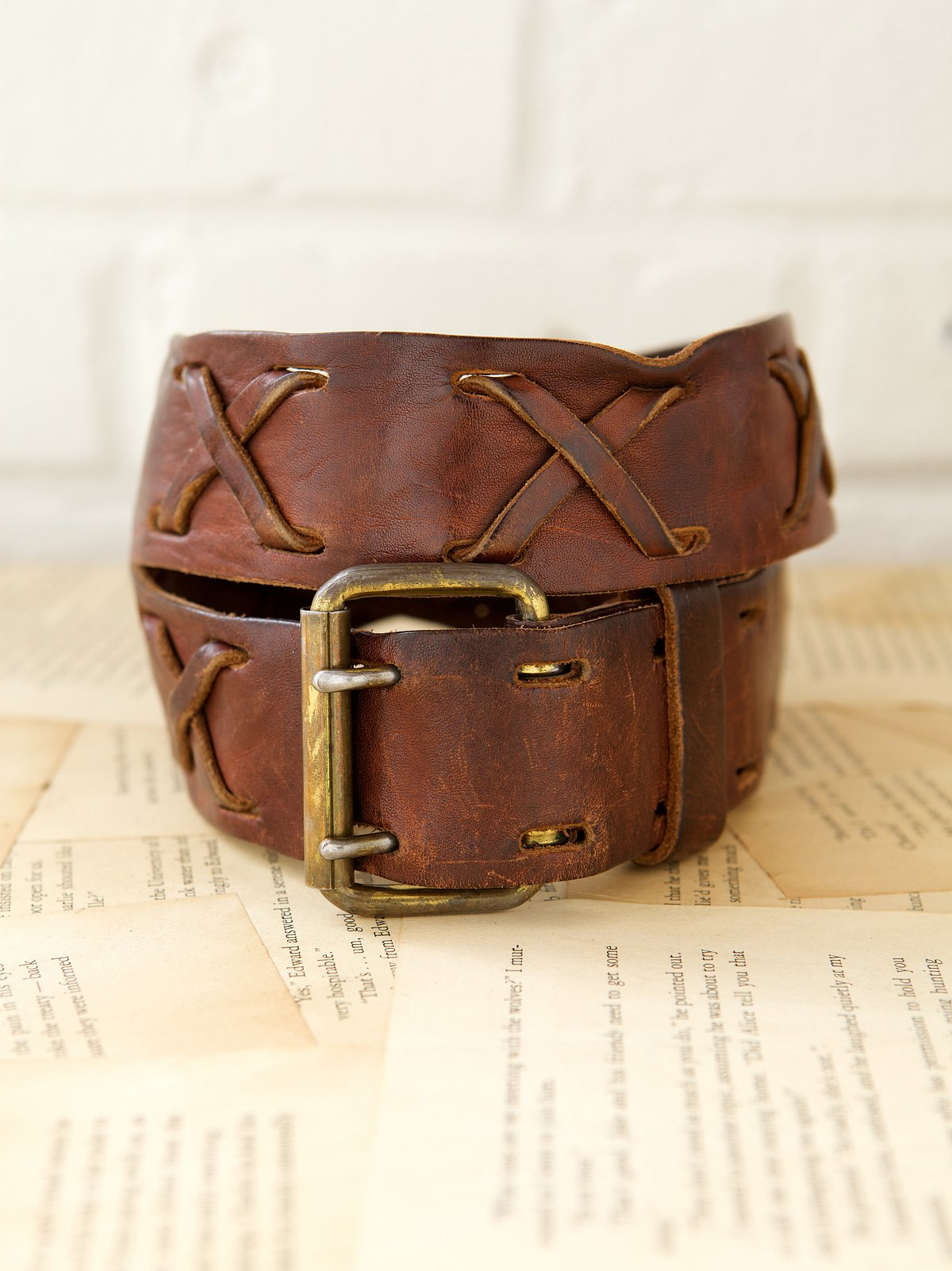 Vintage 1970s Hippie Treasure Belt