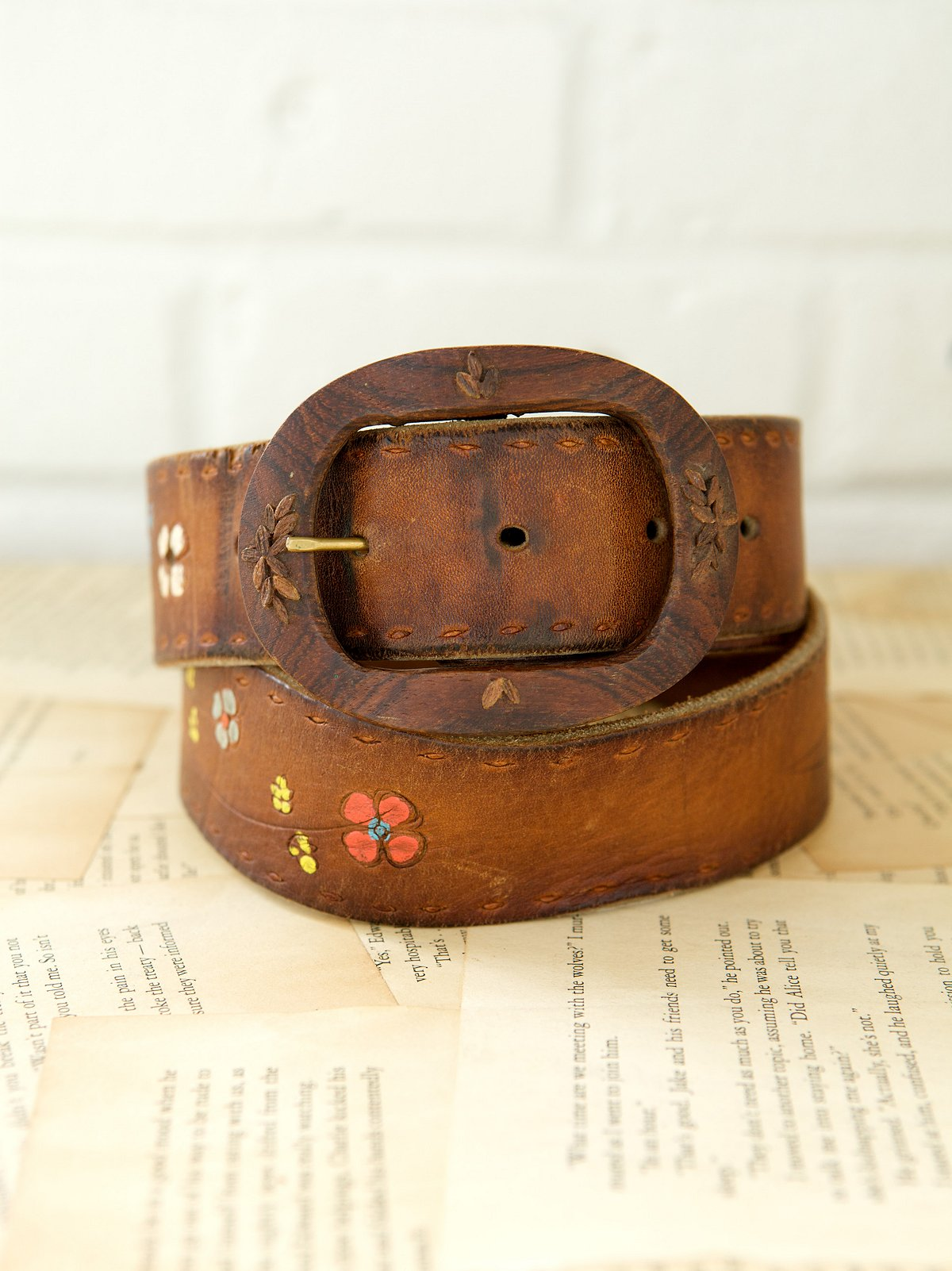 Vintage 1970s Summer Of Love Belt