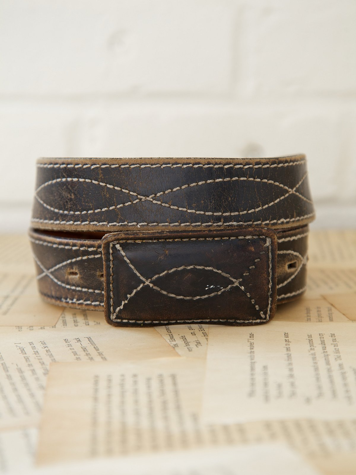 Vintage 1970s Ripple Belt
