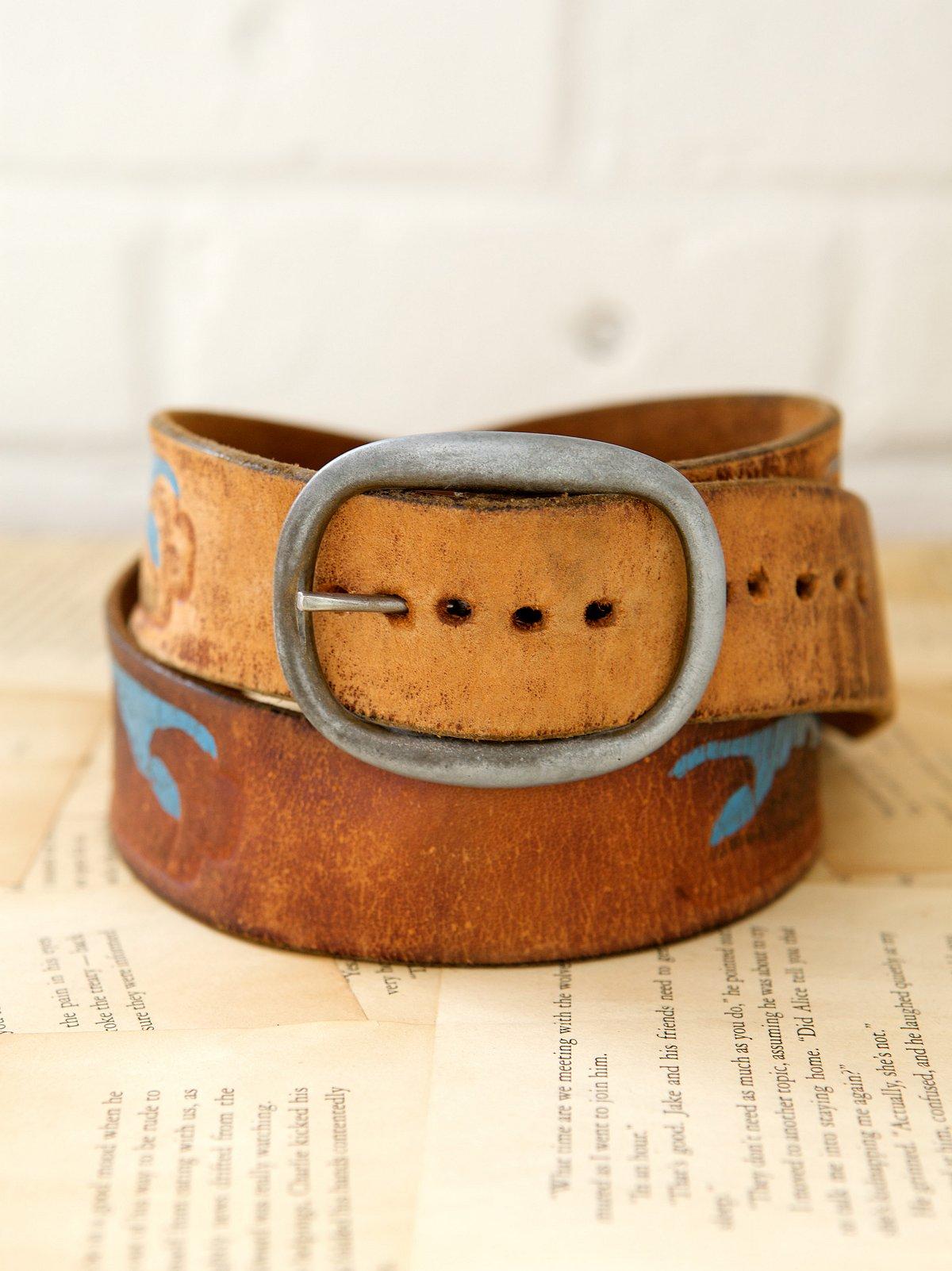 Vintage 1970s Free Bird Belt