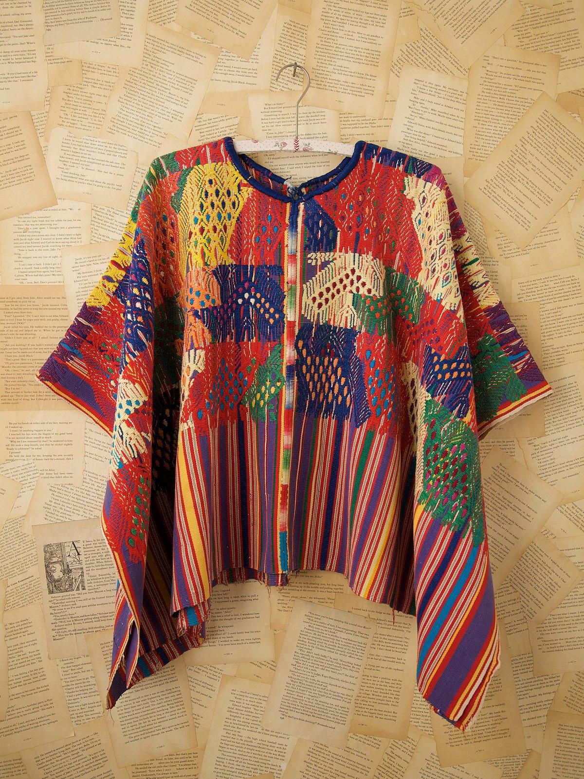 Vintage Multicolor Poncho