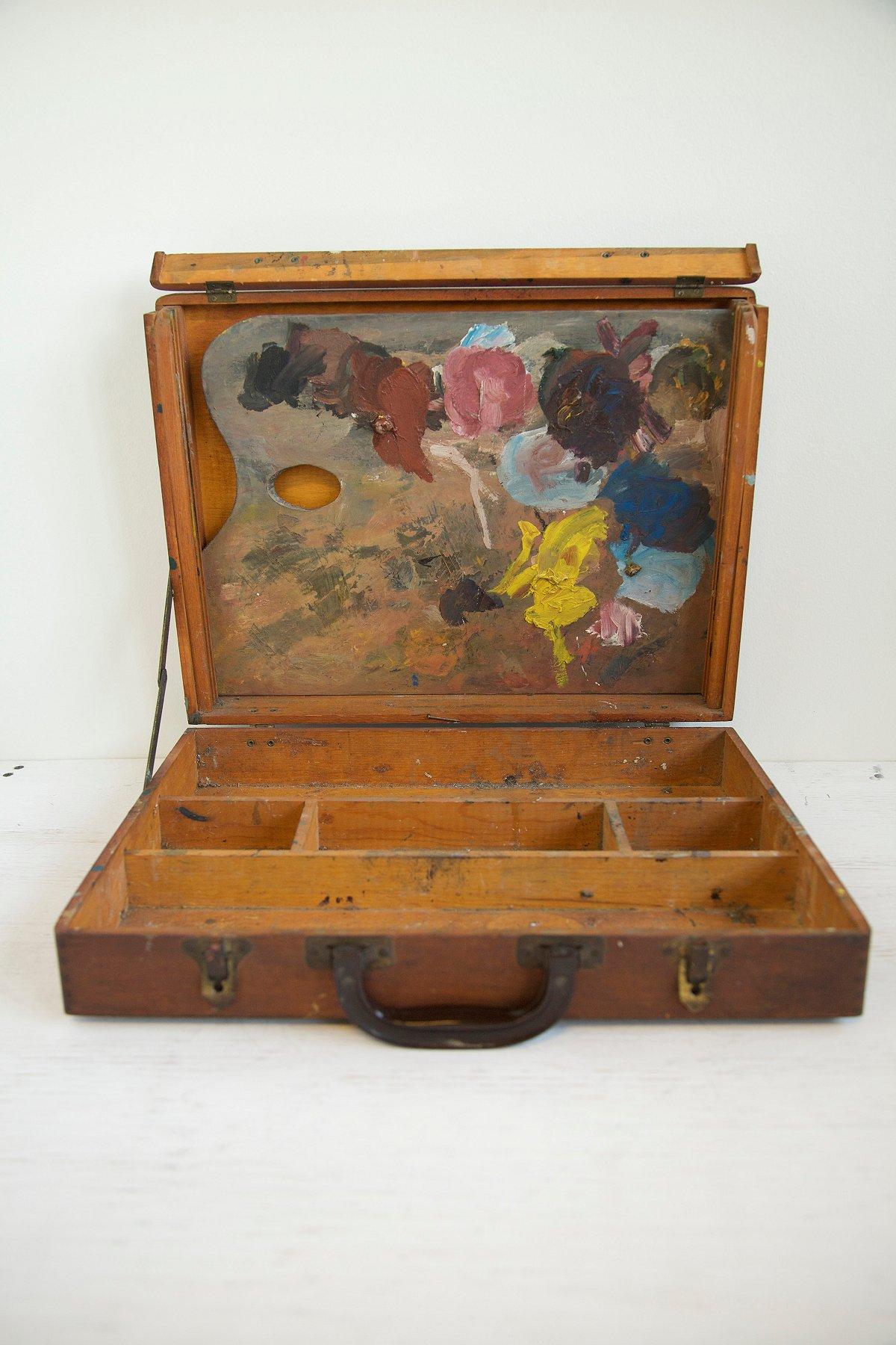 Vintage 1960s Painter's Box