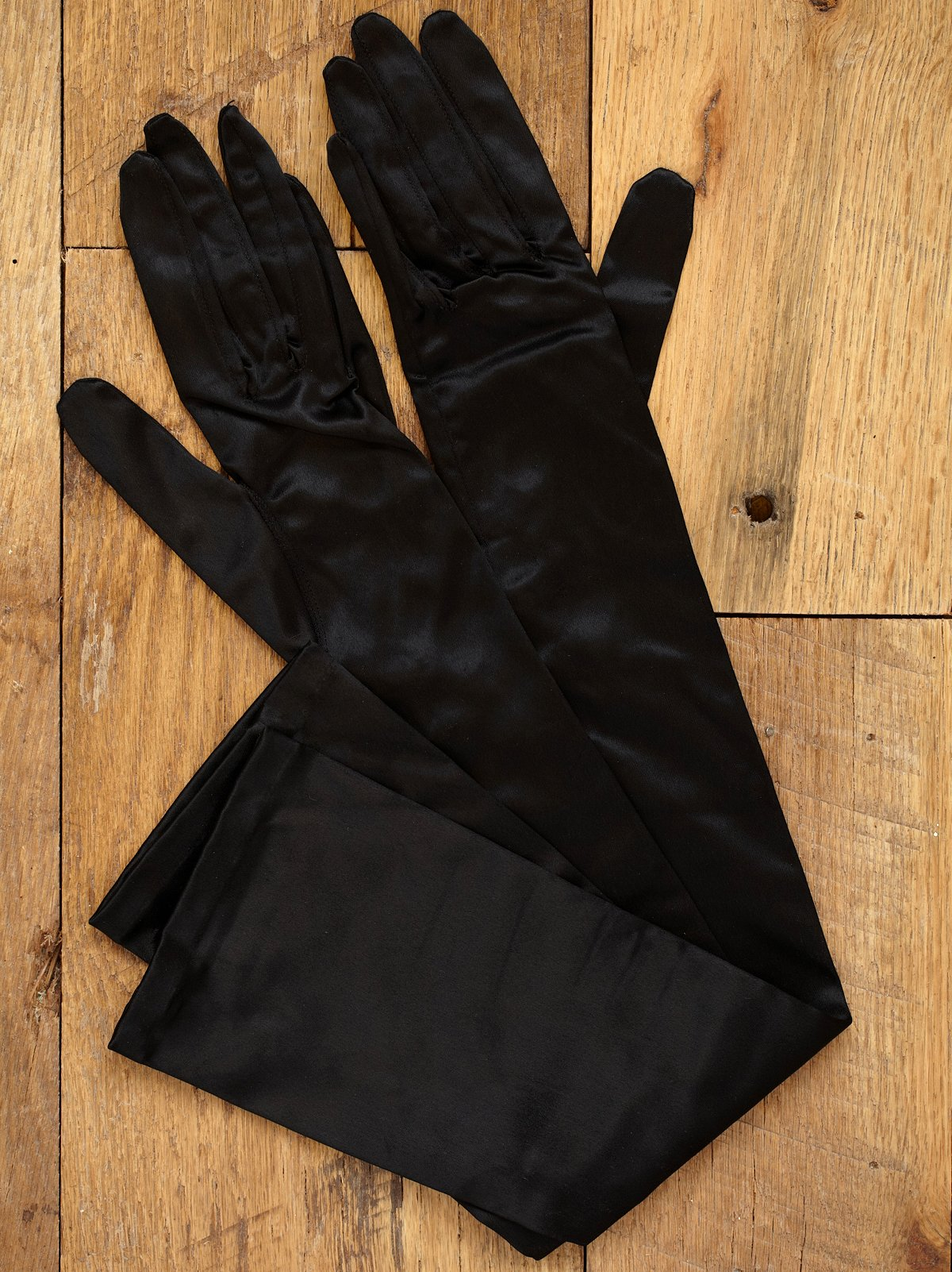 Vintage 1960s Stretch Satin Gloves