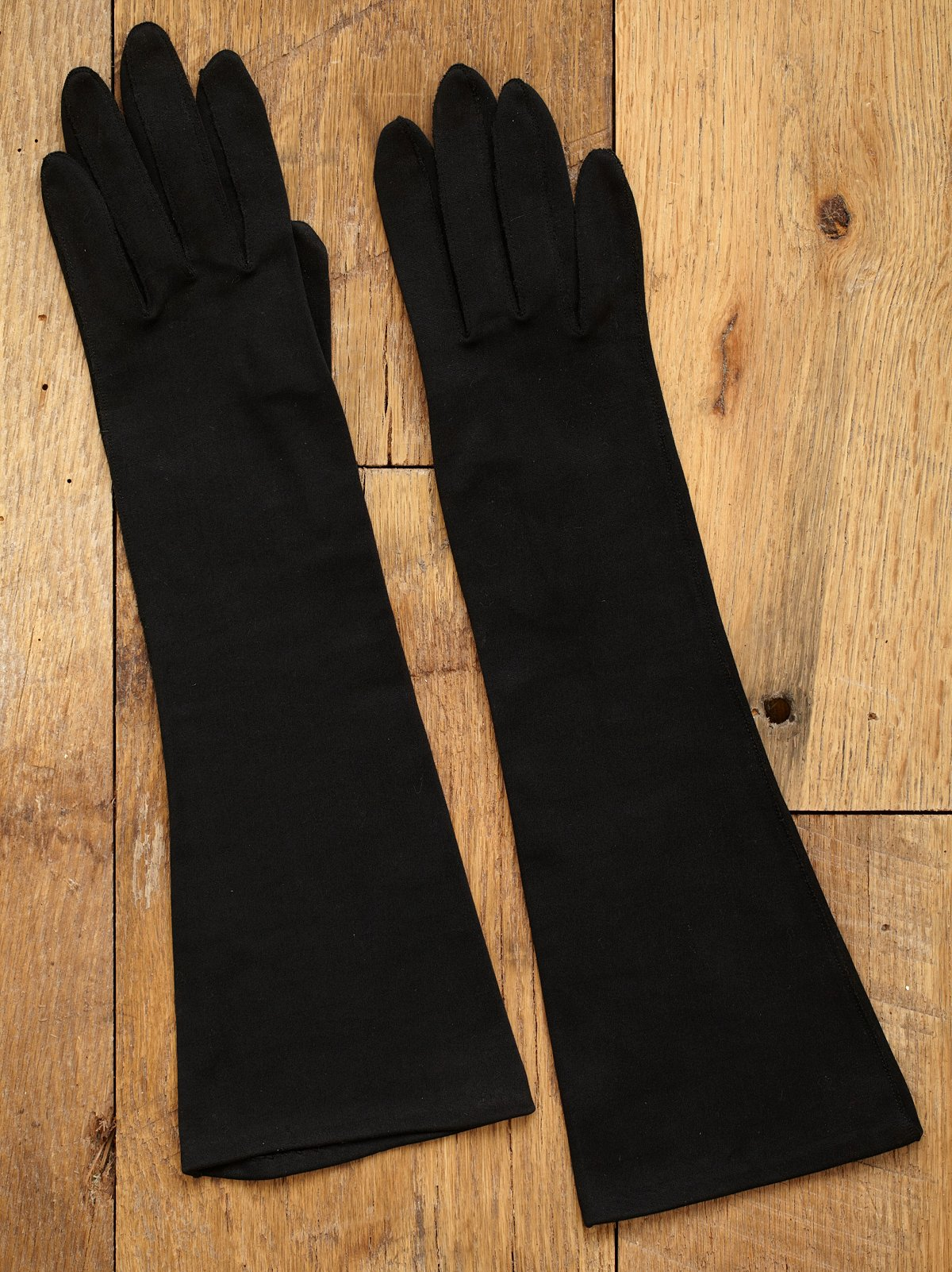 Vintage 1950s Long Black Gloves
