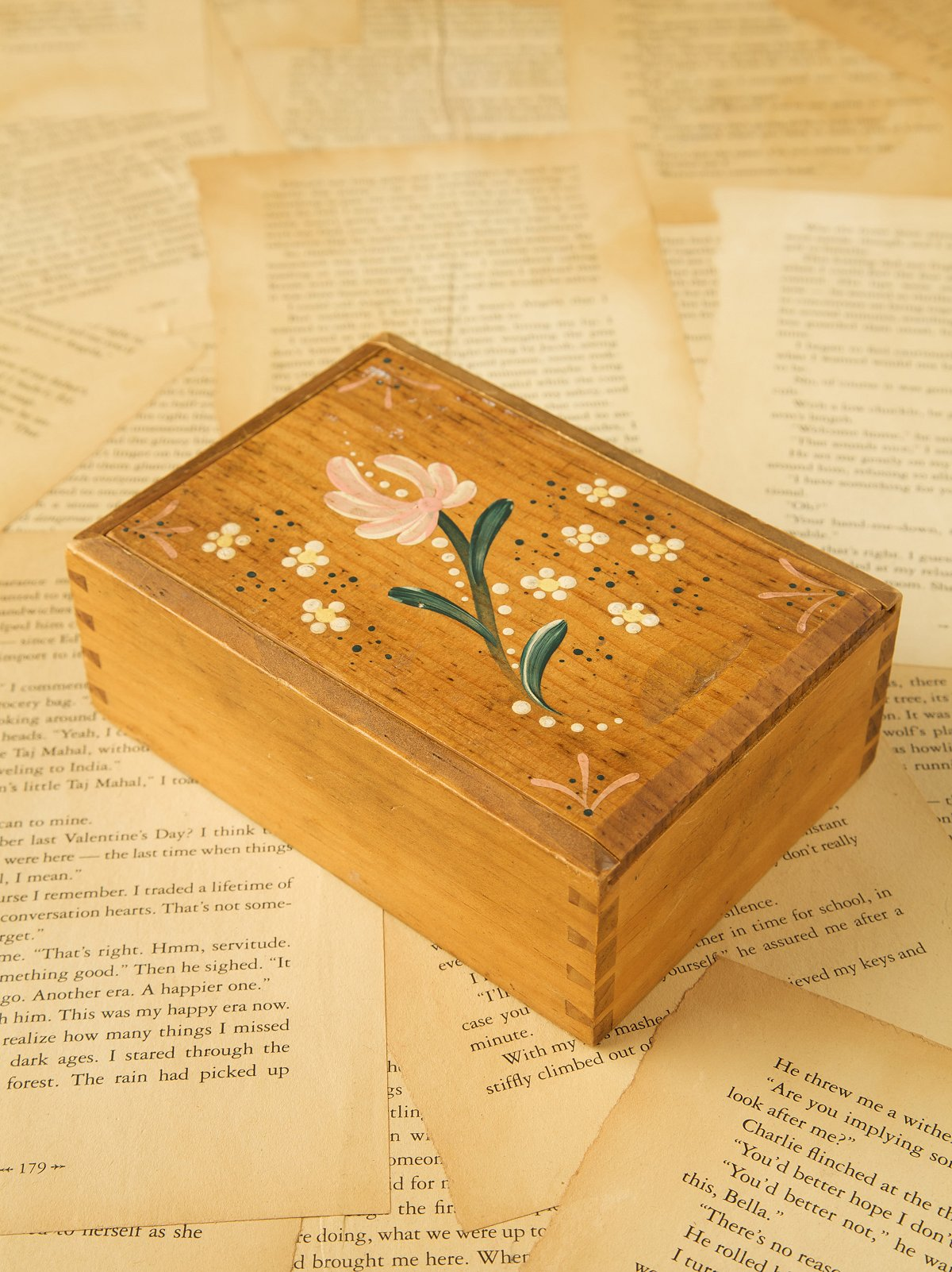 Vintage Early 1900s Wooden Box