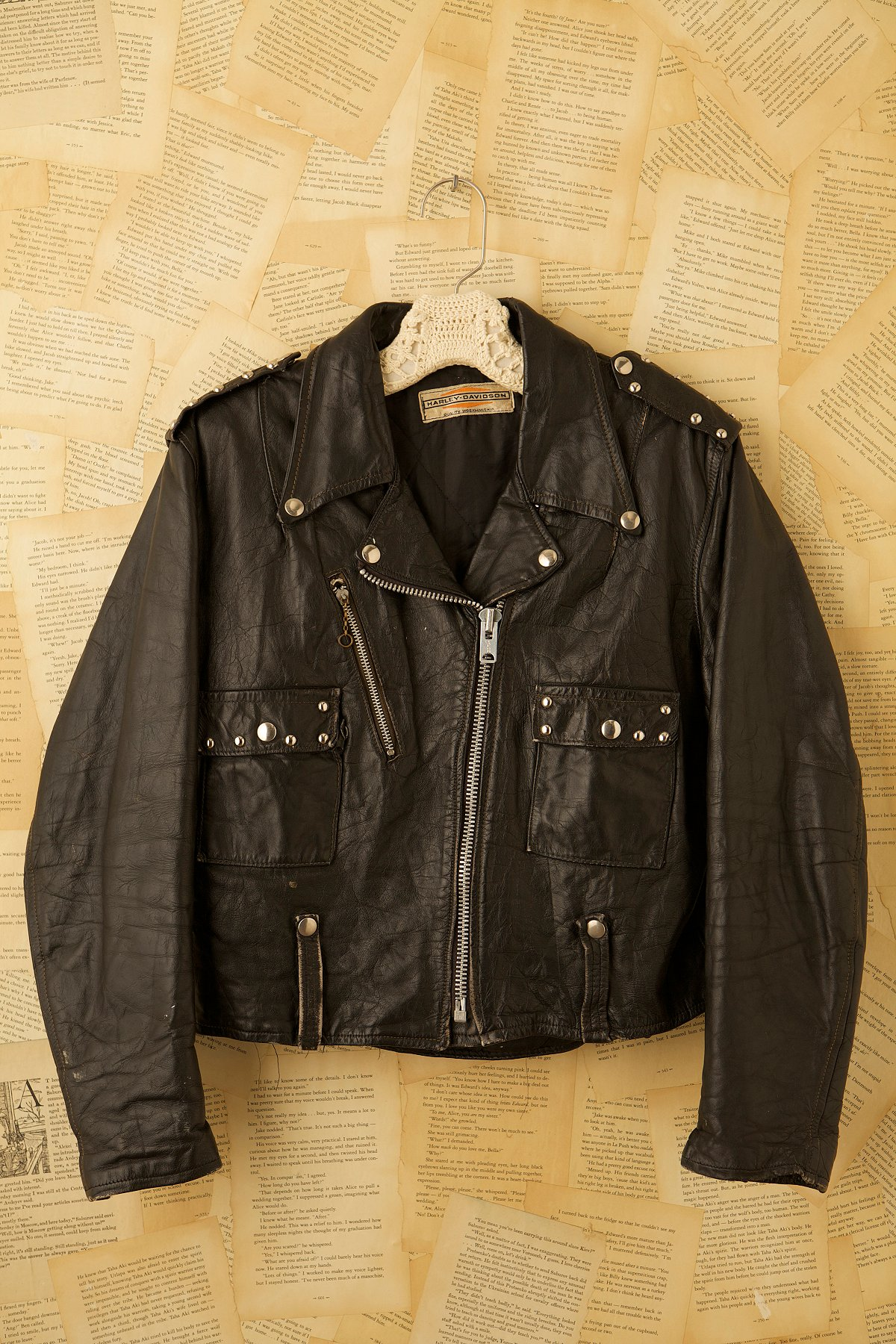 Vintage 1970s Black Leather Jacket