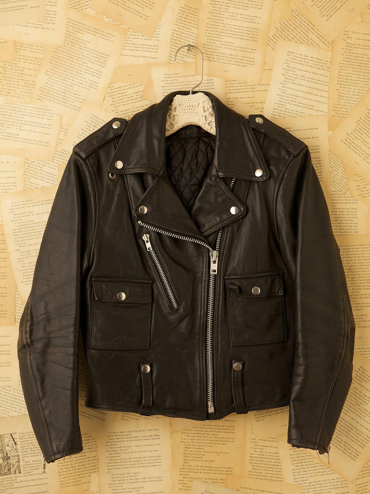 Vintage 1980s Black Leather Jacket