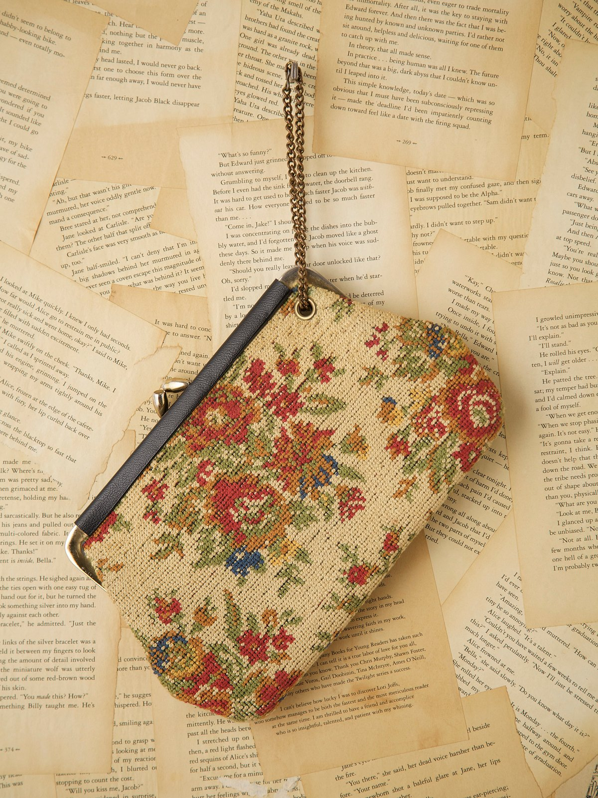 Vintage 1970s Tapestry Clutch