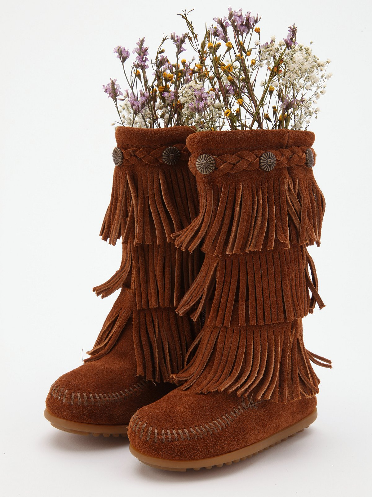 Wee People 3 Layer Fringe Bootie