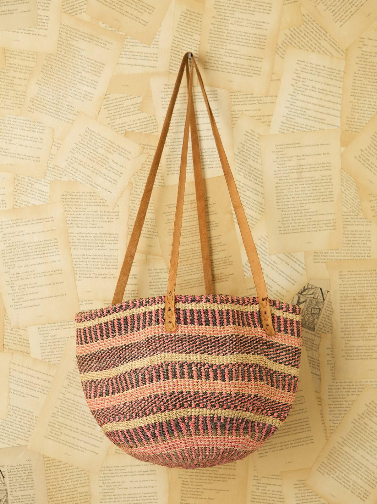 Vintage Straw Market Bag