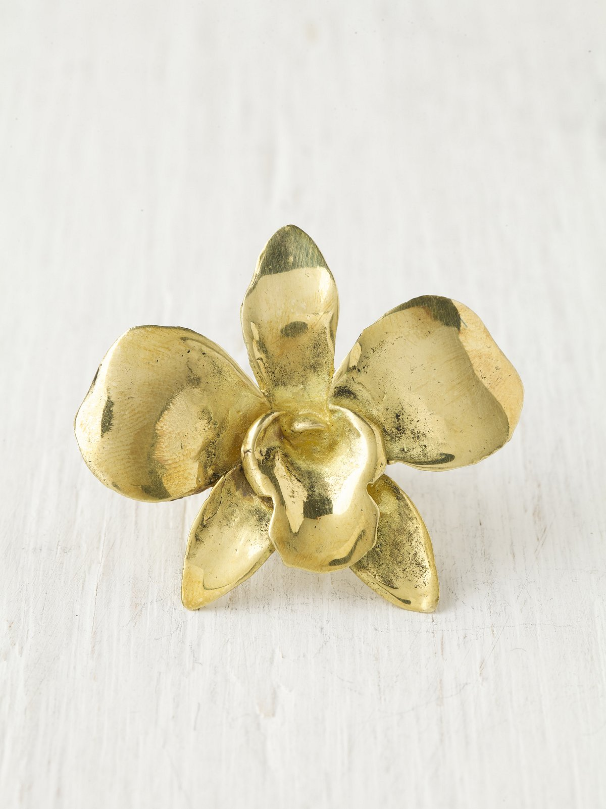 Pressed Orchid Ring