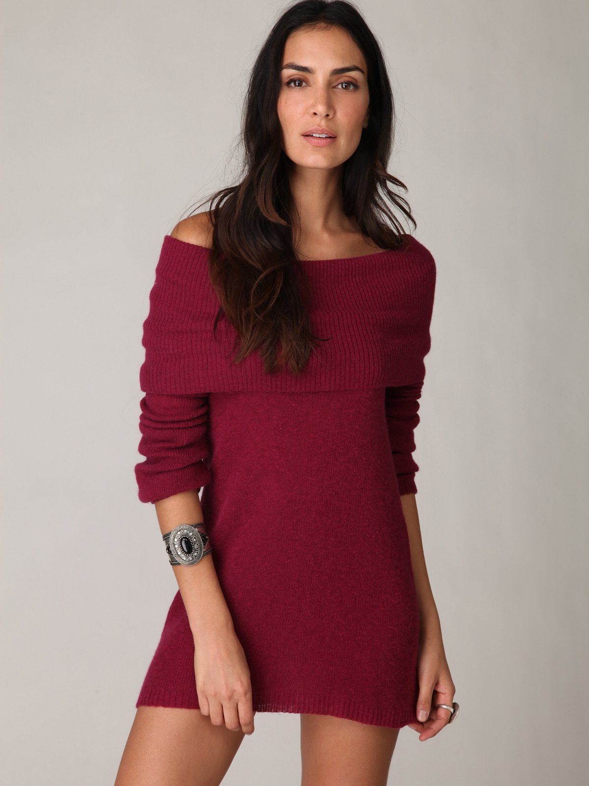 Off The Shoulder Tunic Pullover