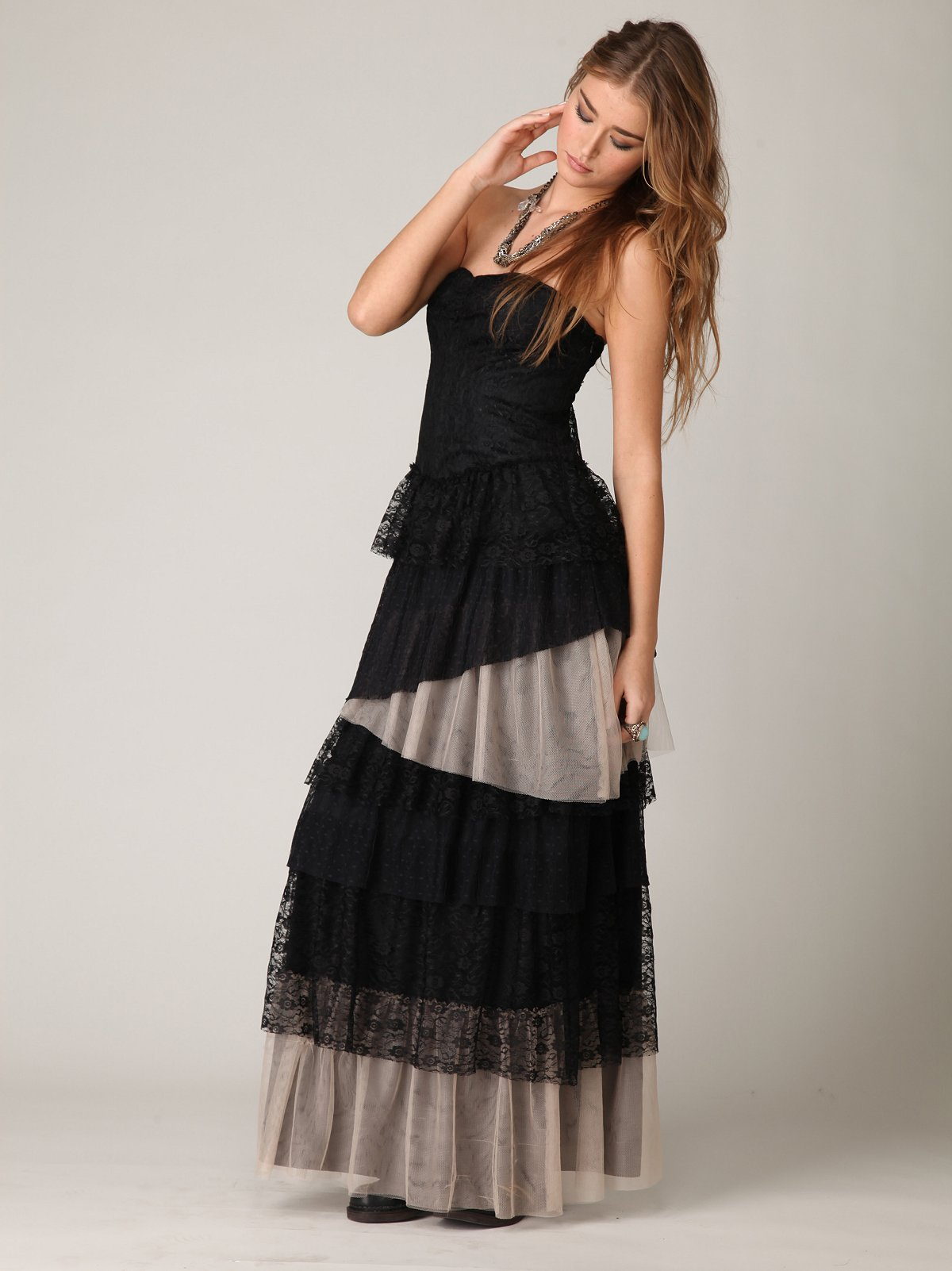 Lace In Layers Maxi Dress