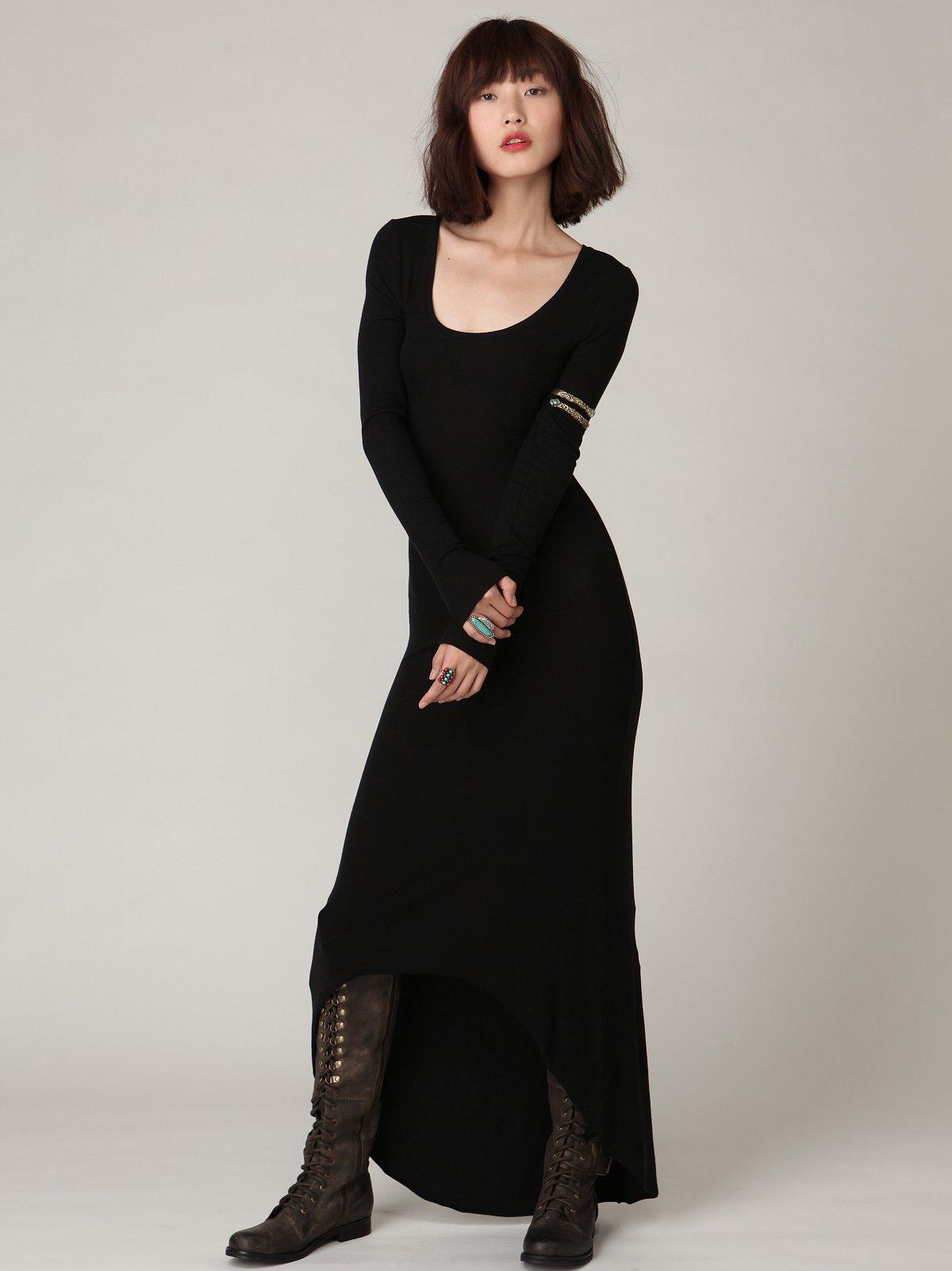 Tencel Rib Maxi Dress