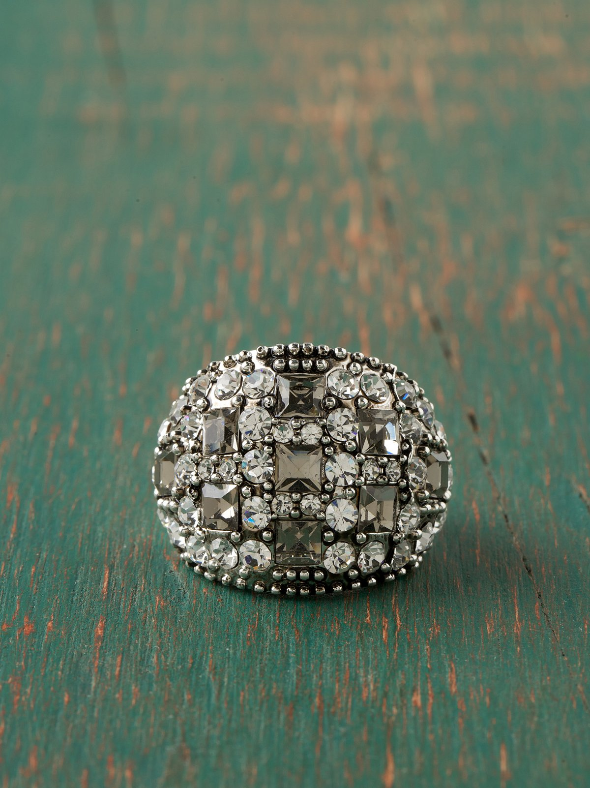 Jeweled Deco Ring
