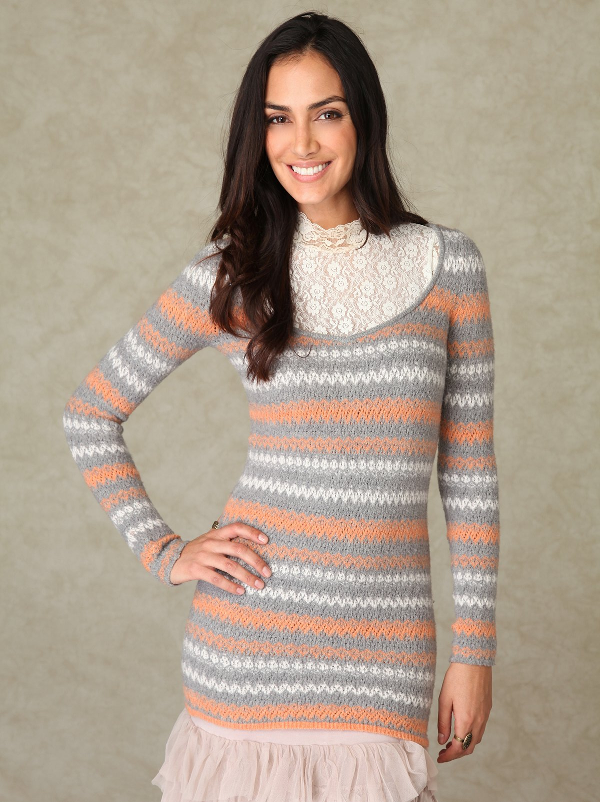 Long Sleeve Stripe Pullover