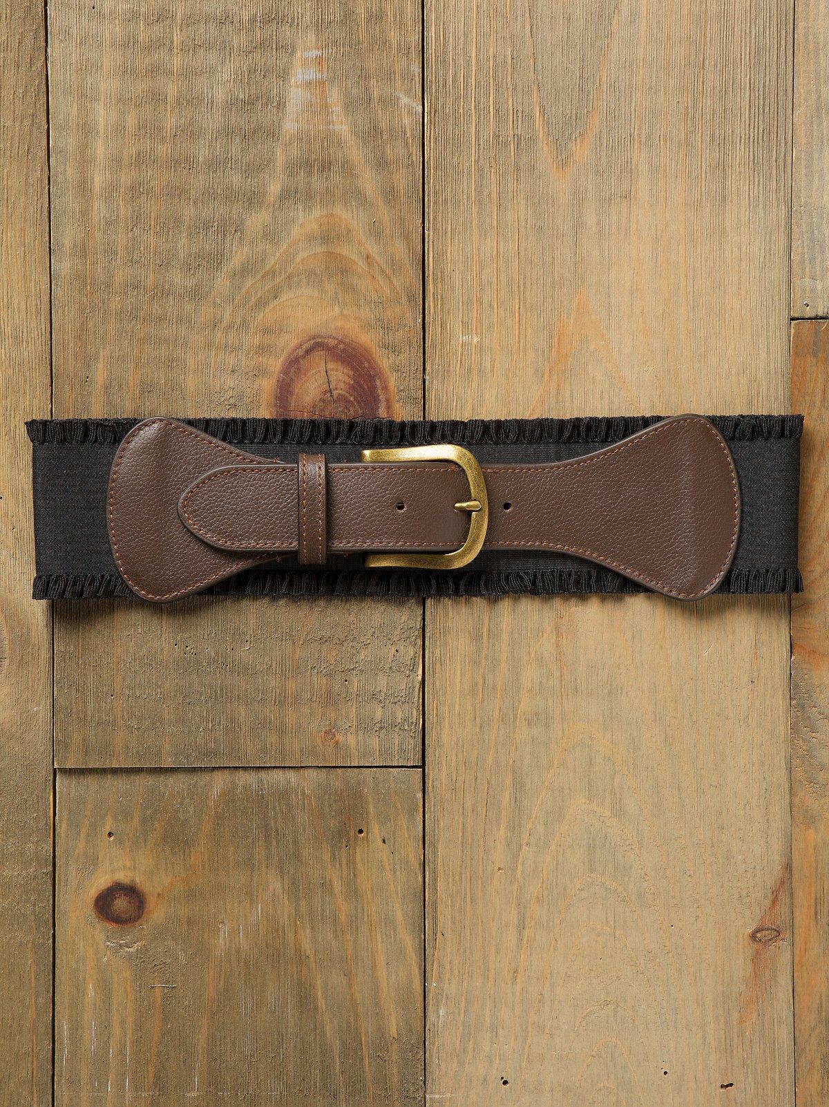 Ruffle Stretch Waist Belt