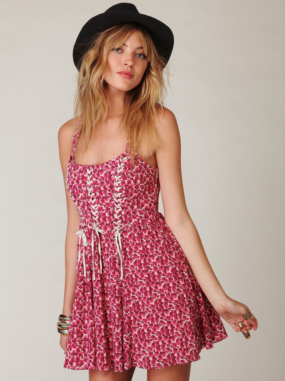 Desert Rose Corset Dress