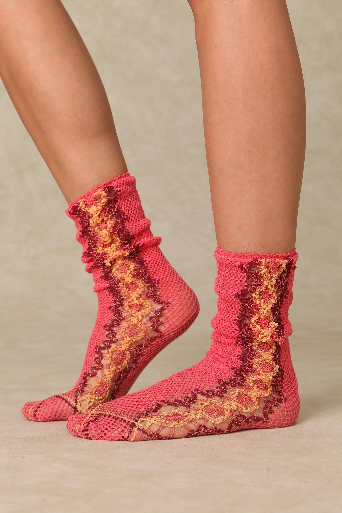 Gabrille Crochet Ankle Sock