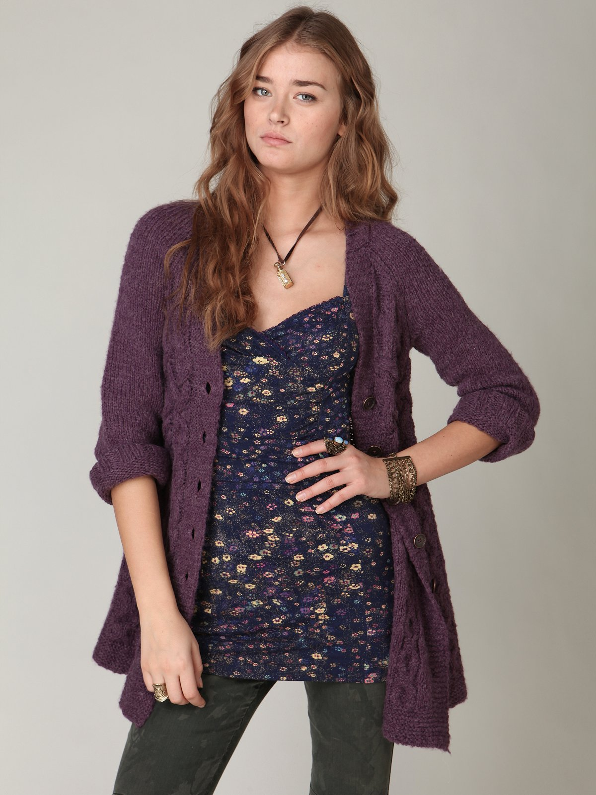 Branched Cable Cardigan
