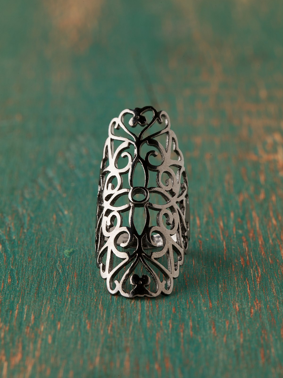 Long Filigree Ring