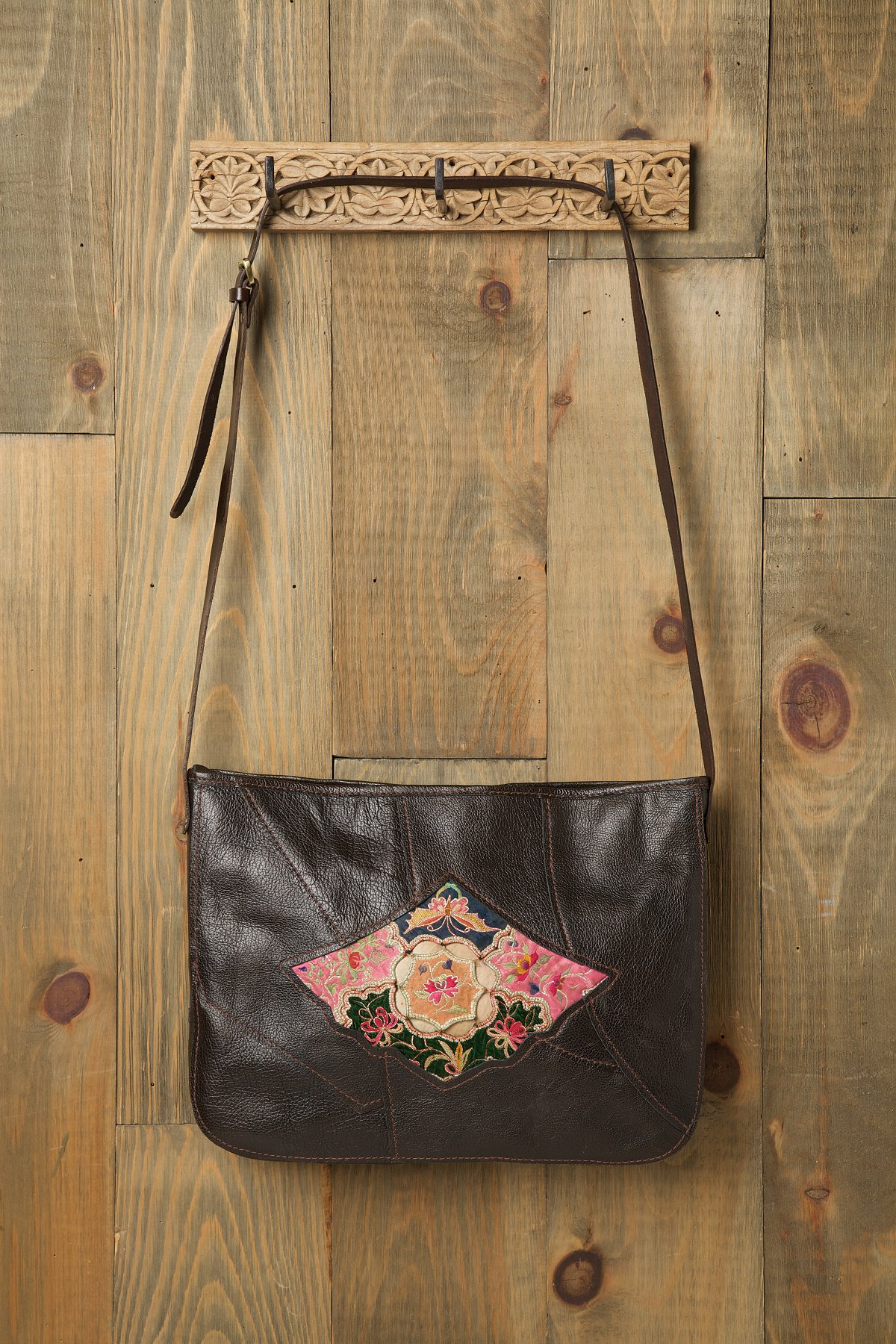 Embroidered Inset Laptop Bag