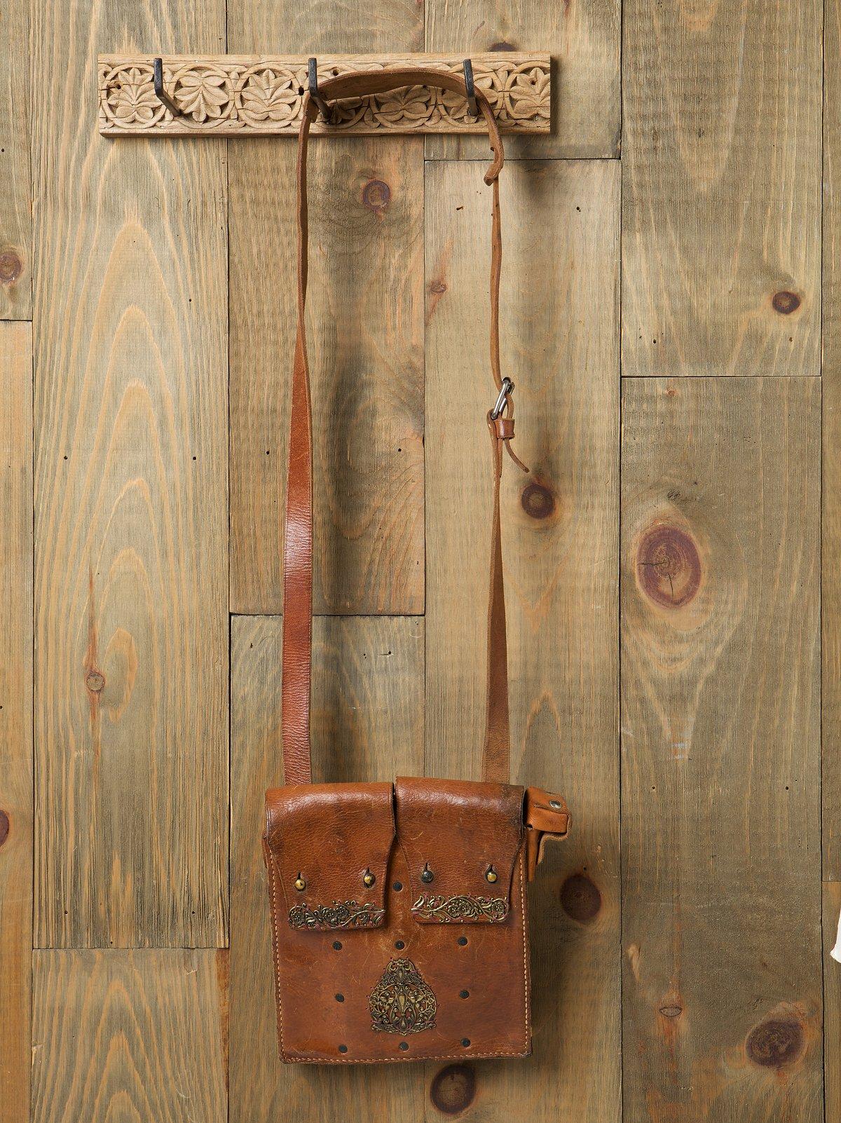 Filigree Leather Satchel
