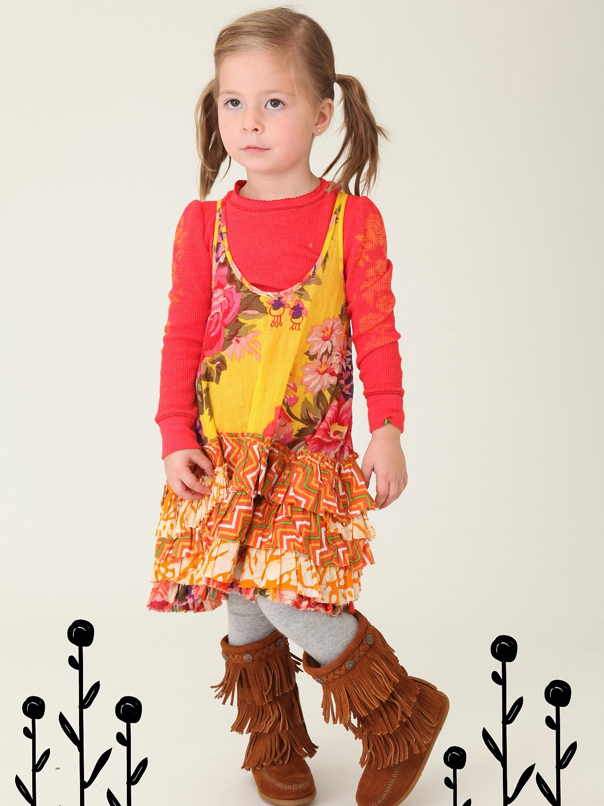 Wee People Yellow Ruffle Dress