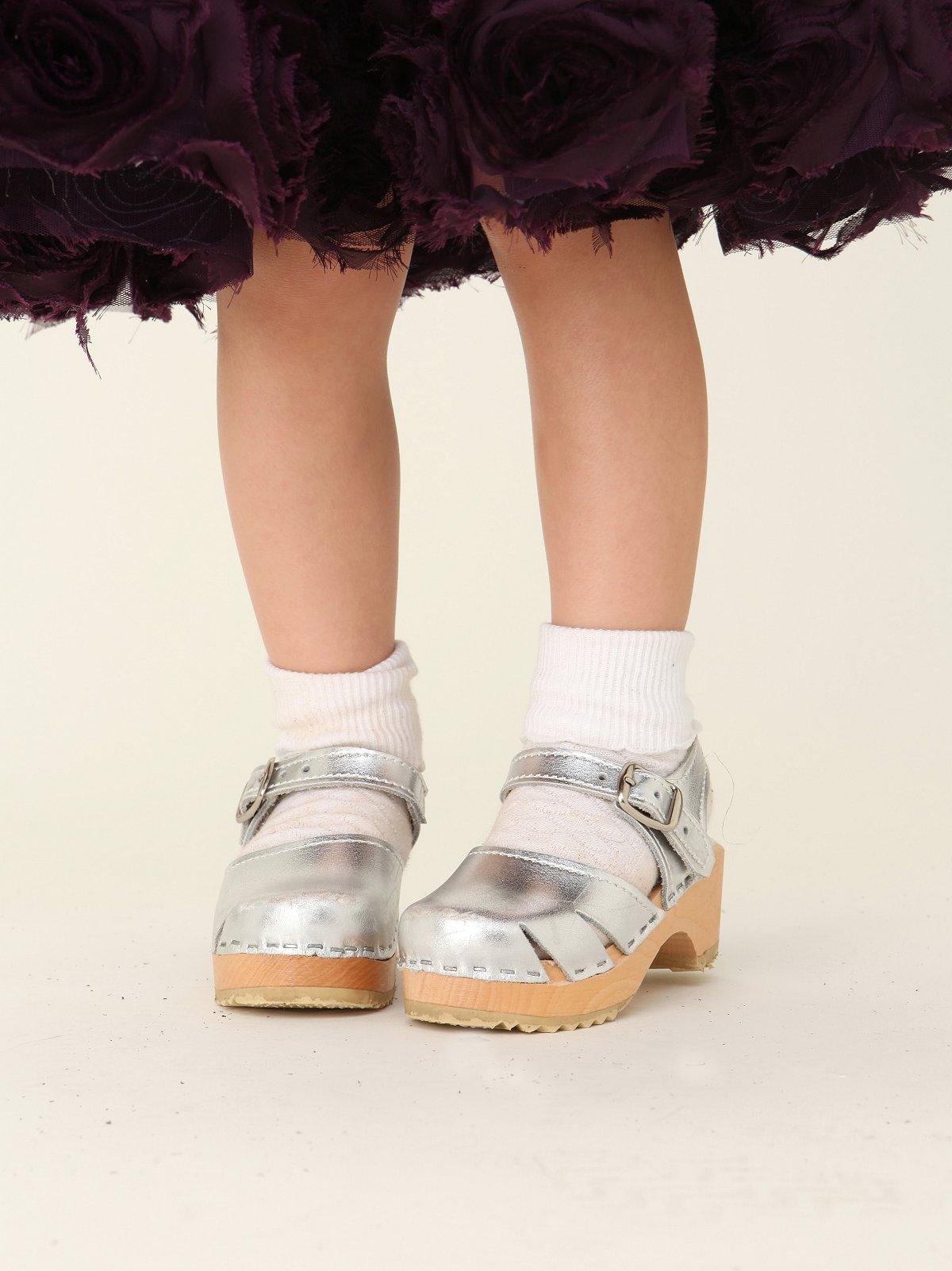 Wee People Metallic Clog Sandal